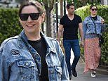 Kelly Brook looks chic as she steps out with handsome beau Jeremy Parisi