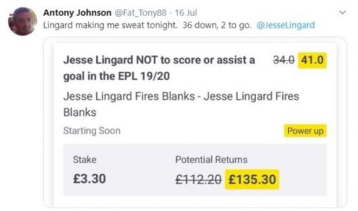 Liverpool fan loses HUGE bet after late, late Jesse Lingard goal for Man Utd vs Leicester