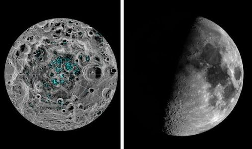 Water on the Moon breakthrough: Astronomers spy young ice in the Moon's South Pole craters