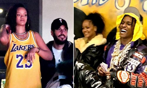 Rihanna all smiles as she heads out with A$AP Rocky after Hassan Jameel 'split'