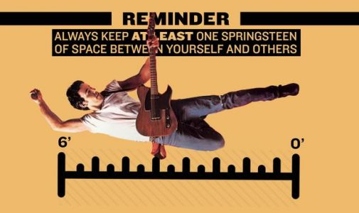 Coronavirus: New Jersey residents told to keep 'one Springsteen' away from others