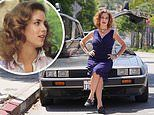 Back To The Future star Claudia Wells poses with a DeLorean 35 years after starring in the film