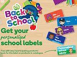 Woolworths launches free back-to-school promotion for kids name labels and lunch bags
