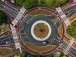 Minor car crash forces Britain's first Dutch-style roundabout to CLOSE just days after it opened