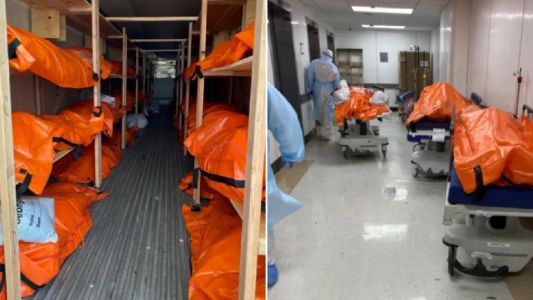 Body bags fill NYC hospitals as city continues to be devastated by coronavirus