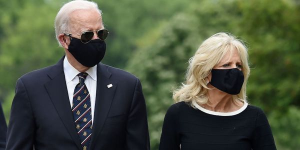 Trump shared a tweet mocking Biden for wearing a face mask in public - in line with the CDC advice that the president routinely ignores