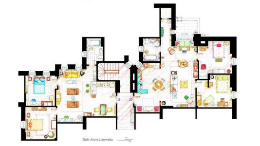 Floor plans of TV characters' houses make for nerdy yet compelling viewing
