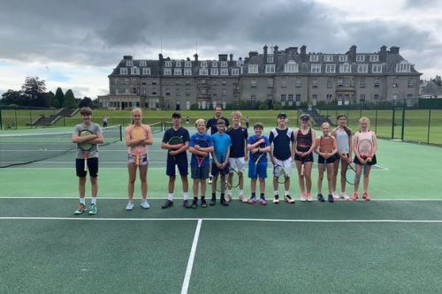 Andy Murray surprises delighted tennis youngsters at Gleneagles coaching