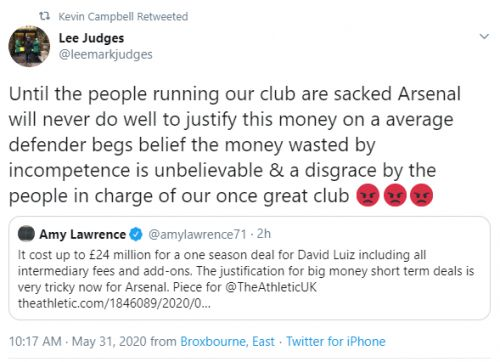 Arsenal legend calls on entire board to be SACKED over David Luiz transfer blunder