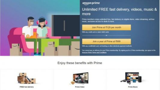 Amazon Prime now available in India for Rs. 129 per month