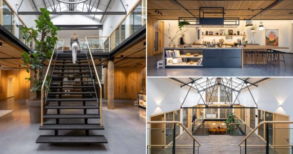 Architect turns old gymnasium that was once a monastery into an eco-friendly family home