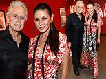 Catherine Zeta-Jones and Michael Douglas lead the stars at Lady Gaga's concert at the Apollo Theater