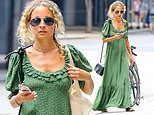 Nicole Richie goes for country charm in a prairie dress as she steps out in NYC