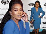 Angela Bassett stuns in a form-fitting blue dress at the Essence Black Women in Hollywood Awards