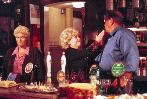EastEnders to air iconic hour-long Pat, Peggy and Frank Queen Vic showdown on BBC One