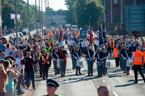 Four Glasgow Loyalist marches pass peacefully with no counter protests taking place