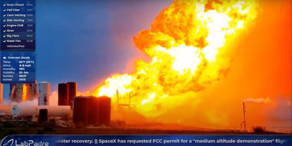 SpaceX's latest Starship rocket prototype just exploded during an engine test