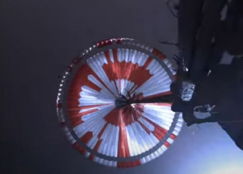 Nasa hid a coded message on the parachute that delivered Perseverance to Mars