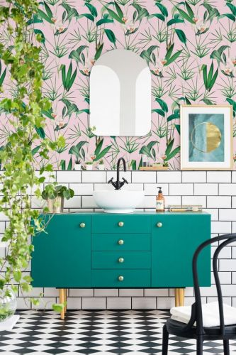 How To Nail The Bathroom Wallpaper Trend
