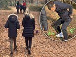 Rio Ferdinand and fiancé Kate Wright enjoy family horse-riding session
