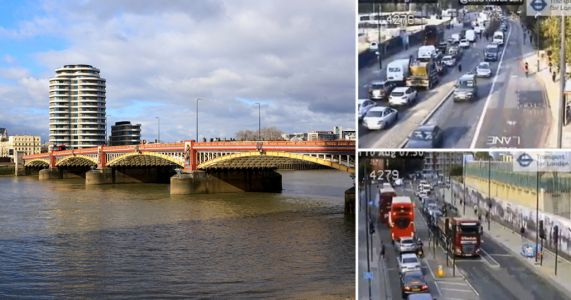 Central London grinds to a halt as Vauxhall Bridge is closed until Christmas