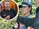 Demi Lovato puts on a casual display as she joins Will Ferrell on set of Netflix comedy Eurovision