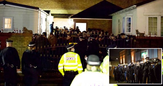 '100 officers storm wake' after '70 mourners' cram onto caravan site