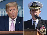 Trump blasts former USS Theodore Roosevelt captain and says he '100%' agrees with his ousting