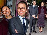 Crown Princess Victoria and Prince Daniel of Sweden appear loved-up at the Maxim Theatre, Stockholm