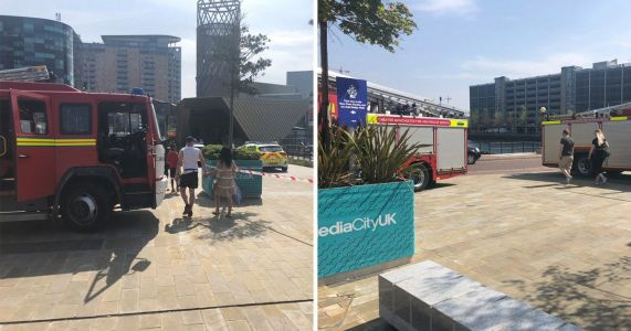 Body of man found in water close to BBC's Manchester offices