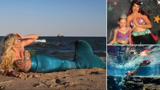 Student shells out $3,000 to become real-life mermaid after being inspired by childhood meeting with Disney princess Ariel
