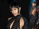 Sabrina Dhowre Elba wows in a backless sheer dress for London Fashion Week's opening night party