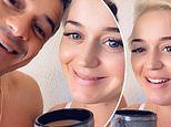 Katy Perry and fiance Orlando Bloom urge fans to vote to the tune of Rise And Shine