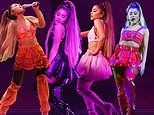 Ariana Grande shows off revolving door of sultry looks as she kicks off Sweetener World Tour in NYC