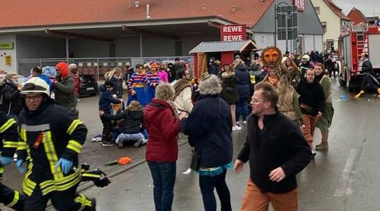 Several injured after car rams into carnival procession in Germany