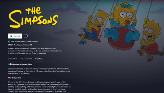 How to Watch Classic Simpsons in the Original 4:3 Aspect Ratio on Disney+