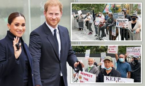 Meghan Markle and Prince Harry's New York engagement rocked by protest