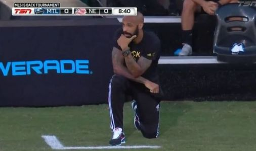 Thierry Henry kneels for 8 minutes and 46 seconds during MLS match in George Floyd tribute
