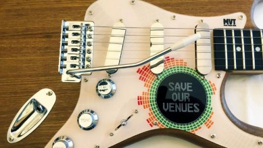 Win this hand-built Strat replica and support live music venues