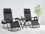 Zero gravity chairs with cup holders on sale on Amazon
