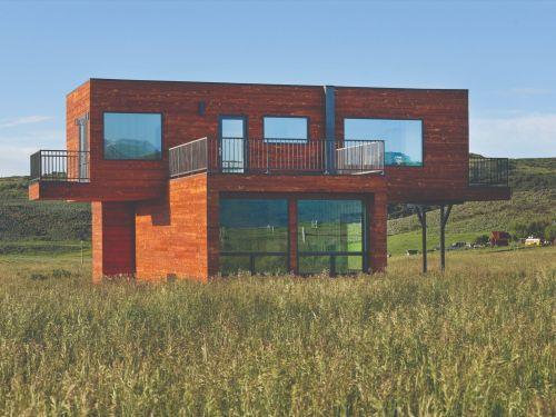 Look inside a house made of shipping containers built on a Colorado ranch just outside of Aspen
