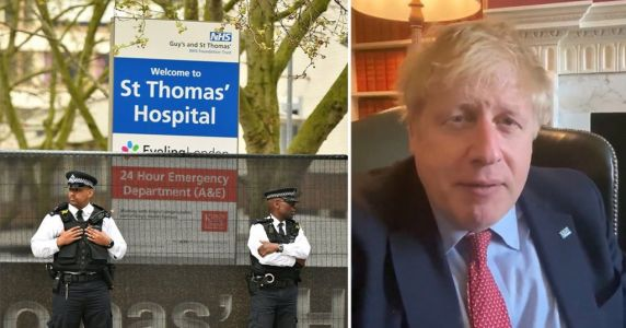Boris still in intensive care but 'is sitting up and improving'