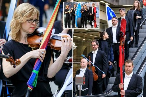 Orchestra performs lost property concert using 'instruments' left on trains