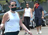 Lea Michele steps out with husband Zandy Reich for a walk in LA