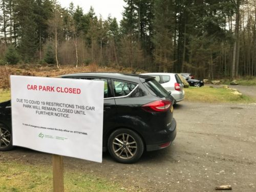Coronavirus: Residents' concerns over walkers driving to take exercise in woods