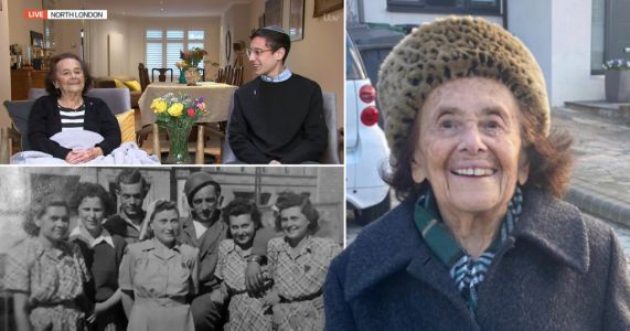 Woman, 97, who survived Auschwitz and Covid tells nation 'never give up'