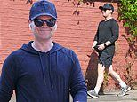Declan Donnelly embraces the warm weather on a solo walk in the sunshine