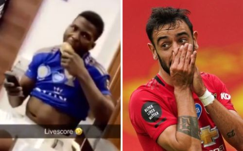 Leicester City stars bemoan Bruno Fernandes as they check Man Utd score in dressing room