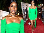 Kelly Rowland serves body in green at Living Legends Foundation Gala