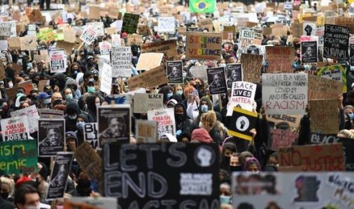 London protest: Thousands pack capital in support of Black Lives Matter despite warning